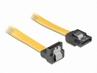 Kabel Do Dysku S-ata Kątowy(z Metalowymi Zaciskami) 0.5m