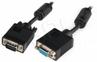 Kabel Do Monitora-przedłużacz Hd15 M/f Hq 10m Ferryt