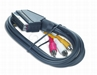 Kabel Euro (21pin) - 3x Rca (chinch) 1.8m