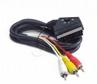 Kabel Euro 21pin-3x Rca(chinch) 1.8m Dwukierunkowy