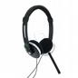 Słuchawki Nauszne Audio Z Mikrofonem, 2,2m, Czarne