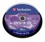 Dvd+r VERBATIM 43666 8.5gb 8x Double Layer Cake10sz