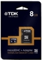 TDK Micro Sd 8gb Class 4 + Adapter