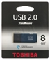 TOSHIBA Flashdrive 8gb Usb 2.0 Hayabusa Blue