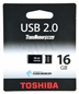 TOSHIBA Flashdrive 16gb Usb 2.0 Suruga Black