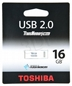 TOSHIBA Flashdrive 16gb Usb 2.0 Suruga White