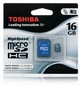 TOSHIBA Microsd Sdhc 16gb