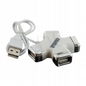 4WORLD Hub Usb 2.0 Star4 Porty Biały
