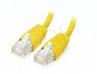 GEMBIRD Patchcord Rj45, Kat. 5e, Utp, 1m, Żółty